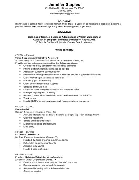 Staple Resume by Staples Resume 2015