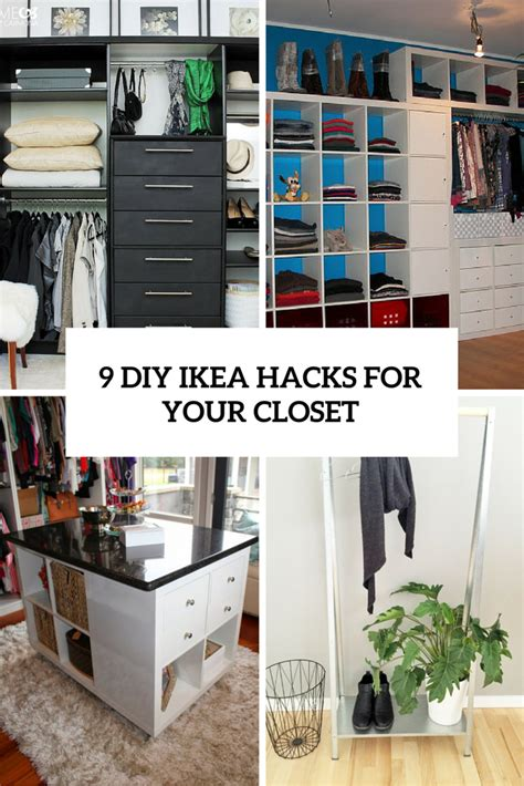 ikea hacks diy 9 cool and easy diy ikea hacks for your closet shelterness