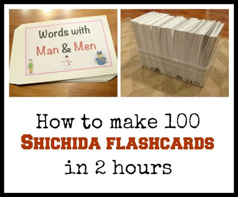 how to make flash cards how to make 100 shichida flashcards in 2 hours