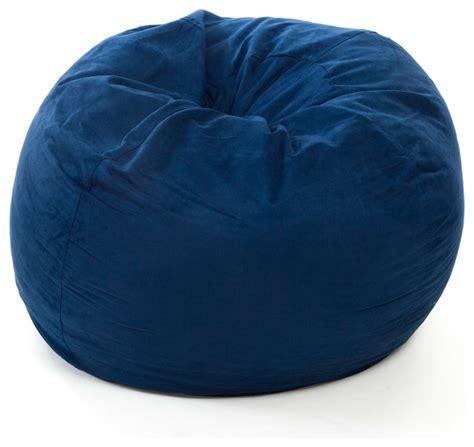material bean bag chairs sammy blue 3 ft faux suede microfiber fabric bean bag