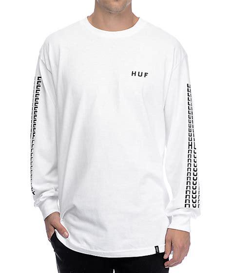 longsleeve huf 2 huf sante white sleeve t shirt