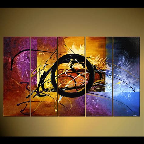 abstract paintings with circles abstract painting large modern painting multi panel