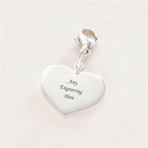 photo engraved silver charm on lobster charming