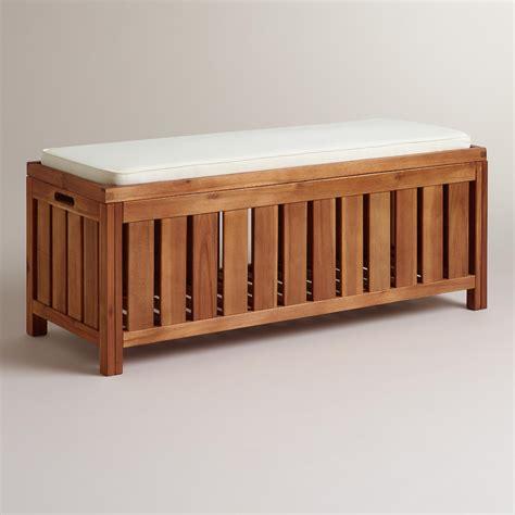 porch storage bench wood storage bench world market