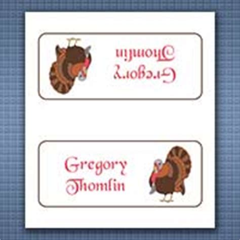 Thanksgiving Dinner Place Cards Template by Free Place Card Templates