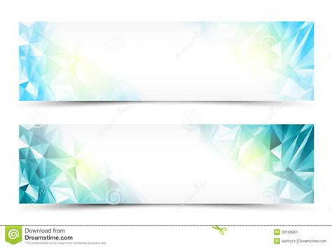 website header design hd polygon banner set stock vector image of abstract cubism