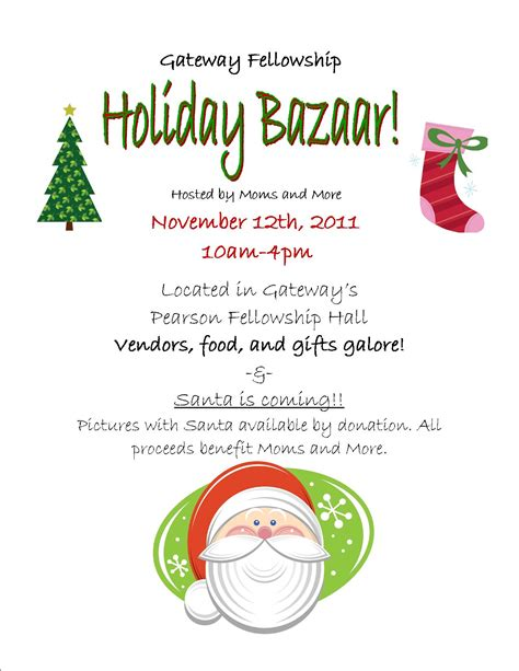 Poulsbo Designs Of The Times Bazaar Flyer Template