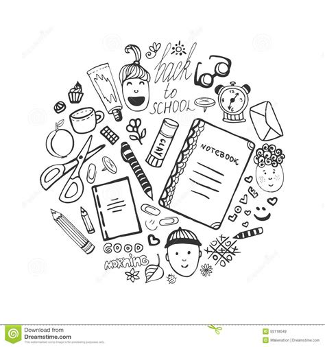 doodle 4 email address collection with school stationery and children