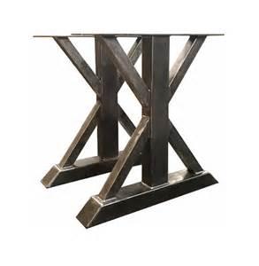 trestle table legs metal trestle table legs custom made box steel barn wood