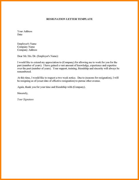 How To Prepare A Resignation Letter by 5 How To Write Resignation Letter Format Emt Resume