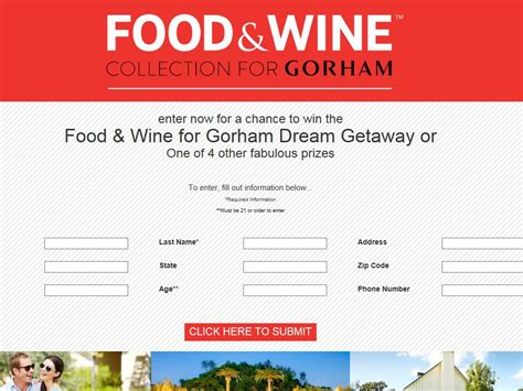 Food And Wine Sweepstakes - the food wine by gorham and solage calistoga sweepstakes
