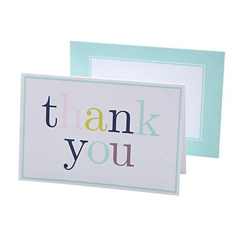 office depot printable note cards see jane work thank you notes aqua blue by office depot