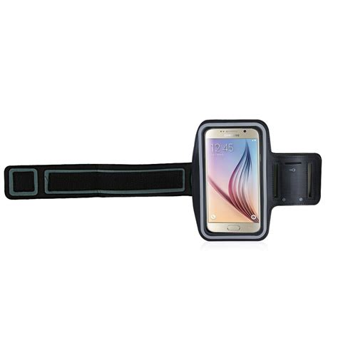 Sports Armband With Key Storage For Samsung Galaxy S5 S6 T1910 5 neoprene material sports armband with key storage for