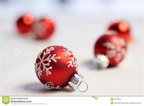 small red christmas balls stock photo image 27239250