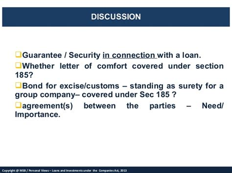 Guarantee Letter Of Comfort Msb S Views On Loans Investments And Deposits Definition Of Deposit