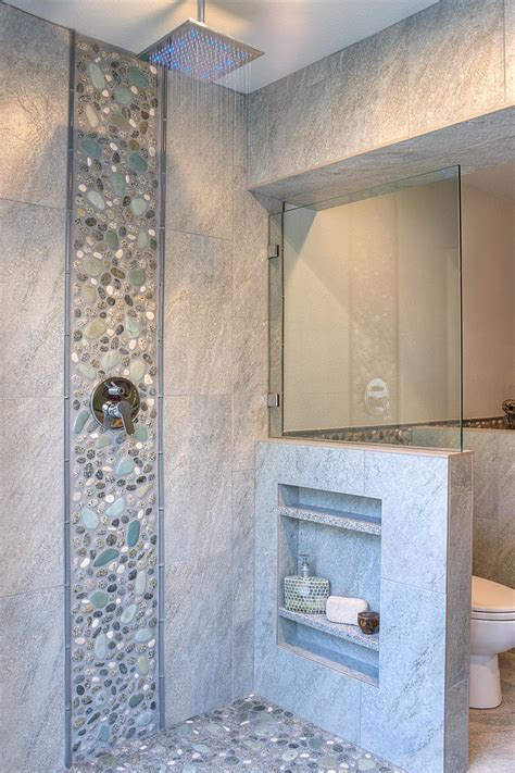 river rock shower traditional bathroom boston by 31 great ideas and pictures of river rock tiles for the