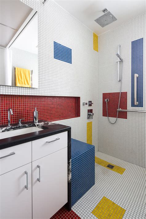 A Mondrian Inspired Bathroom By Alloy Workshop CONTEMPORIST