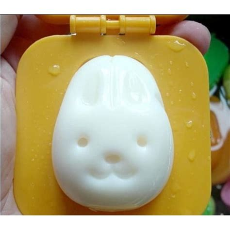 Cetakan Telur Egg Shaper rabbit and egg rice cake mold cetakan telur orange jakartanotebook