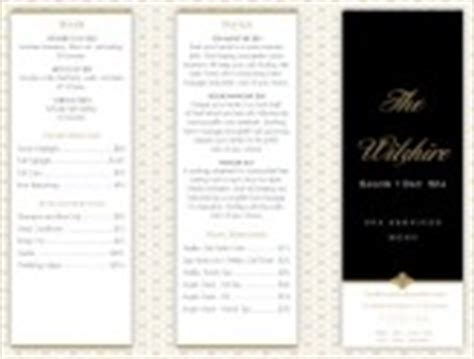 Spa Menu Templates And Designs Musthavemenus Salon Service Menu Template