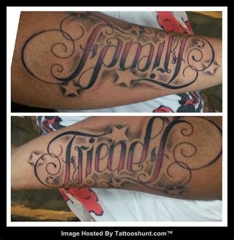 tattoo family friends family friends ambigram tattoo tattooshunt com