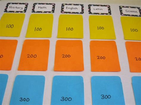Diy Jeopardy Board Diy Jeopardy Board Game Templates Easy Jeopardy