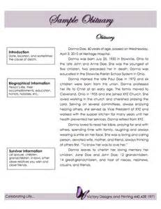Funeral Bulletin Template 25 Obituary Templates And Samples Template Lab