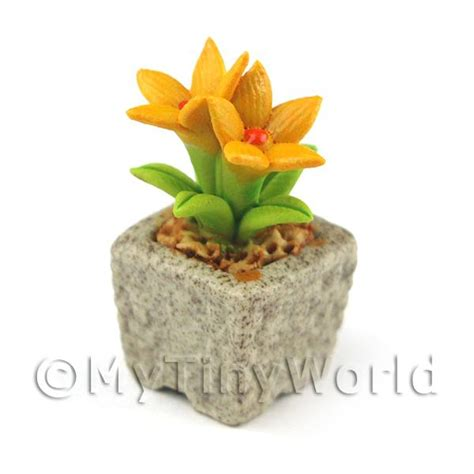 Handmade Ceramic Flowers - dolls house miniature ceramic flowers miniature handmade