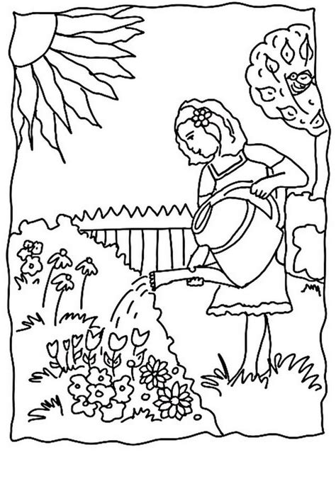 disegno giardino disegno giardino giardini 3 da colorare