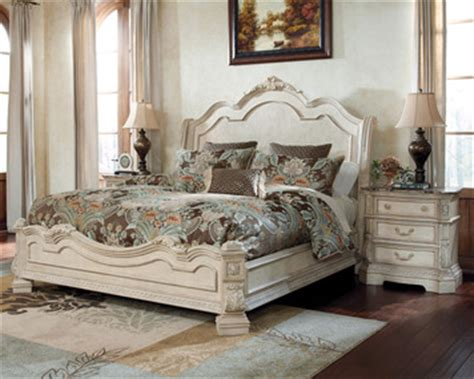ortanique sleigh bedroom set ortanique king sleigh bed by ashley home gallery stores