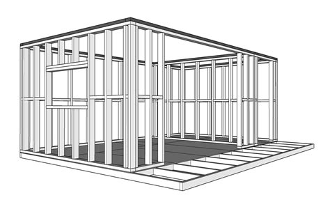 framing a room framing the corners of your garden room self build garden offices