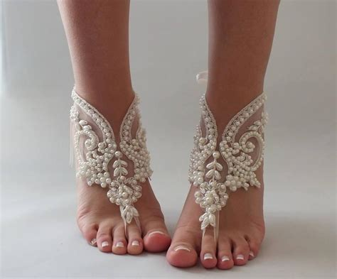 wedding barefoot sandals pearl bridal barefoot sandals wedding barefoot sandals