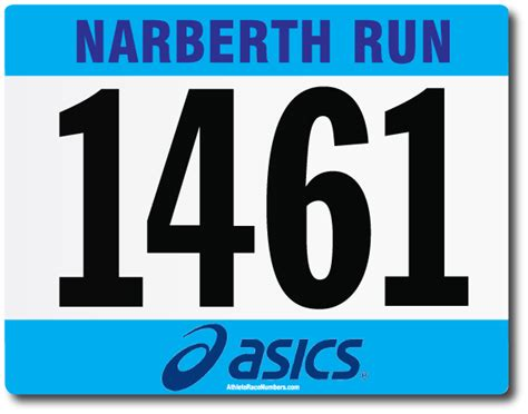 race number template athleteracenumbers enviroprint usa