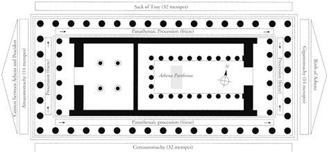 Parthenon Floor Plan by 447 432 B C Plan Of The Parthenon Acropolis Athens