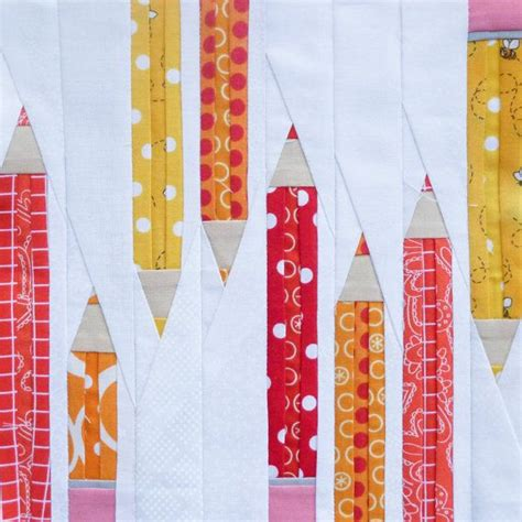 Patchwork Pencil Pattern - best 25 foundation paper piecing ideas on