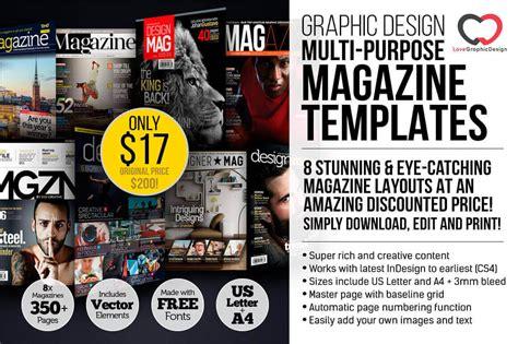 graphic design magazine 8 professional graphic design magazine templates over 350