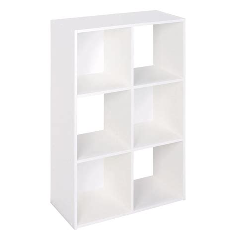 closetmaid white laminate storage cubes shop closetmaid 6 white laminate storage cubes at lowes