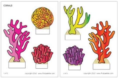 printable fish for diorama coral reef stencil