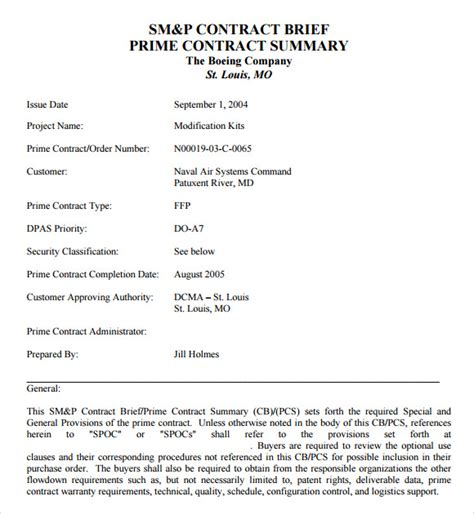 sle contract summary template 10 free documents in pdf