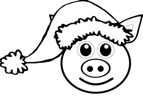 christmas santa hat coloring pages cooloring com