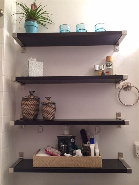 Small Bathroom Solutions Ikea Shelves Bathroom Pinterest Bathroom Shelving Ikea