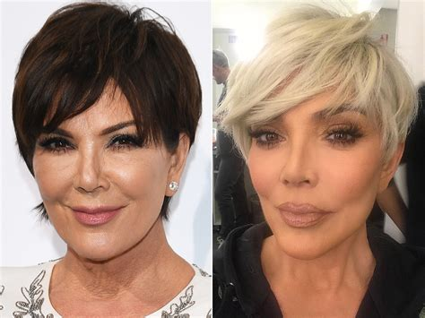 what color is kris jenners hair kris jenner debuts new blonde pixie cut to welcome 2018