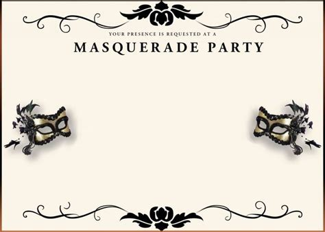 masquerade invitations templates 31 best invitation and ideas images on