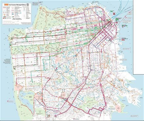 san francisco muni map sf muni map map2