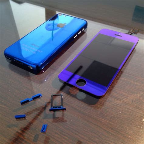 Housing Iphone 5c custom iphone 5c mirror blue back housing lcd screen yelp