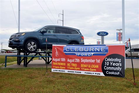 Cleburne Ford cleburne ford celebrating 10 years with community cookouts