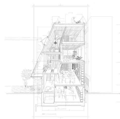 section perspective drawing drawing architecture atelier bow wow via archdaily