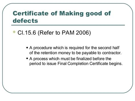 certificate of defects template defects certificate template images