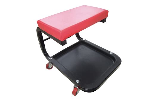 mechanic workshop creeper seat with tool storage tray