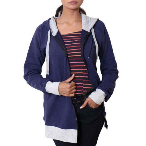 Hoodie Zipper Navy Blue navy blue warp zipper pullover hoodie