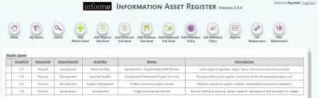 Asset Register Template Iso 27001 by Informu Information Asset Register